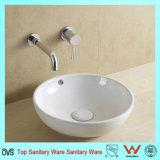 Nouveau design blanc ronde appareils sanitaires en céramique Salle de Bain lavabo