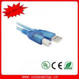 USB 2.0 morgens transparenten dem Blau zu des Schwerpunktshandbuch-Drucker USB-Kabel-L=1.5m
