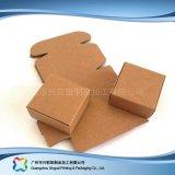 Kraft 종이 평지에 의하여 포장되는 폴딩 포장 보석 선물 상자 (xc-pbn-021)