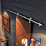 Acero inoxidable sala residencial utilizado Puerta de madera deslizante de granero Filipinas Precio y diseño
