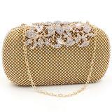 Banquet de diamant de luxe Trendy Sac à bandoulière sac à main Mesdames fleur EB677