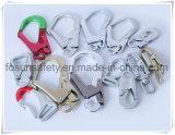 Tri clip D pour des courroies de placage blanc/jaune de zinc