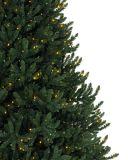 Árbol de navidad plástico artificial de la aguja del pino 2017 con las decoraciones