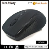 Medium Size 6 Buttons Black Rubber Coating 2.4GHz Wireless Mouse Computer