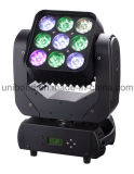 Projetor Popular 9PCS * 10W 3 * 3 Matrix LED Moving Head Light