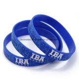 Personifiziertes kundenspezifisches Identifikation-Gymnastik-Sport-Silikon-Armband kein Minimum