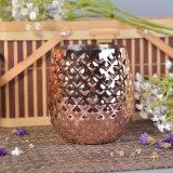 recipiente da vela do bronze do metal do cobre do projeto do abacaxi 560ml