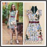 Vestito Sleeveless stampato floreale da estate di modo delle donne dei vestiti di alta qualità