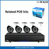 H. 264 4CH 1080P POE NVR Monitoramento Remoto com alarme e áudio
