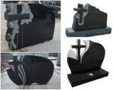 European Customized Carving Granite Cross Monument / Headstone / Tombstone