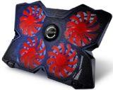 Coolcold Ordenador portátil, el estilo de juego 4 Ventiladores de refrigeración Pad portátil