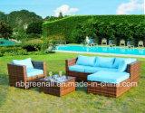 Venda a quente económica pátio exterior as medulas/sofá de canto de vime Mobiliário de Jardim
