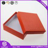 모자를 가진 주문 빨간색 사각 마분지 서류상 포장 상자