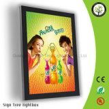 Acrylique annonçant le cadre magnétique d'éclairage LED avec le logo