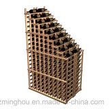 Botella de vino de la vendimia 126 Estantería de madera del estante montan la bodega