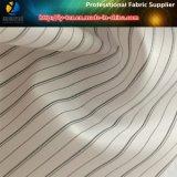Forro branco da luva, tela do forro do terno da listra do poliéster (S112.168)
