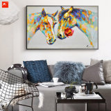 Handmade Decoração para casa Lovestruck Horse Oil Painting
