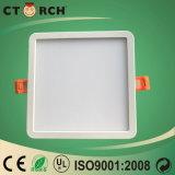 Luz de painel fina lisa SMD do teto do diodo emissor de luz do quadrado de Ctorch 6W