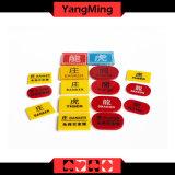 Баккара Crystal акриловый кнопка дилера казино банкир /Кнопки проигрывателя казино покер кнопки маркера Ym-dB02