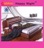 Золотой Мебель классическая роскошь простые деревянные кровати G896