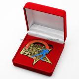 Moneda de encargo al por mayor de la colección de la insignia de la estrella de la aleación del cinc
