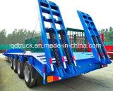 80 ton Vier Semi Aanhangwagen van het Bed van de As de Lage
