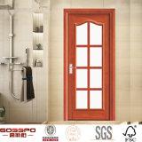 Cocina Interior de talla de madera de la puerta de vidrio- Diseño (GSP3-013)