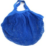 Eco-Beutel Baumwollgriff-Schwarz-organische Baumwollnetz-Einkaufstasche