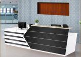 Bureau de réception en bois de salon lustré élevé moderne (HX-5N003)