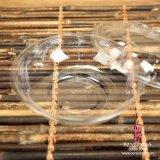 Contenitori rotondi di insalata di plastica a gettare dell'animale domestico