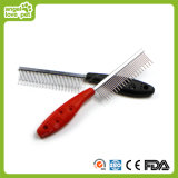 Pet Plastic Hand Steel Needles Hair Combs (HN-PG345)