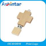 Customed USB3.0 섬광 드라이브 십자가 USB 기억 장치 목제 USB 지팡이