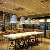 Luz pendente de ferro acrílico de design simples para iluminação do quarto de café