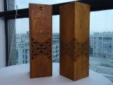 포도 수확 연장 세트를 가진 완성되는 나무로 되는 포도주 상자
