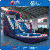 子供膨脹可能な水スライドか良質水スライドまたは水おもちゃ
