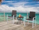 Rattan al aire libre / mesa de mimbre de café y silla Set