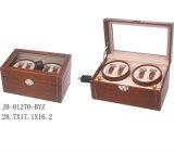 4PCS de bruine Doos van het Horloge Showbox van de Spoel van het Horloge Houten Roterende