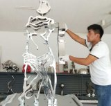 L'intérieur de l'art Métal Sculptures en acier inoxydable personnalisé