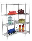 Rack de prateleira de armazenamento de metal cromado ajustável para fábrica / armazém