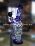 """Tubulação de água de vidro do projeto """"sexy"""" colorido para fumar com as 4 tubulações de circulação"""