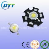 1W 3W Star LED haute puissance avec plaque en aluminium, LED d'alimentation avec plaque de dissipateur de chaleur