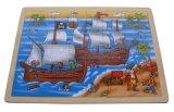 Jouets en bois de puzzle de château en bois (33817)