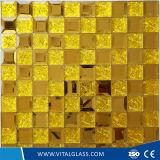 Décoratif courbé de guichet coloré en verre/a durci la glace modelée repérée par acide de mosaïque