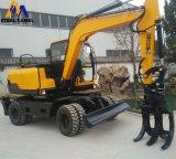 7tonne utilisé de gros de machines agricoles 30km/h de roue avec de l'excavateur 65kw Xinchai moteur