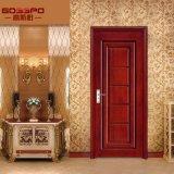 Mano tallada antigua puerta de madera interior de la habitación (GSP2-068)