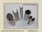 tubo scanalato quadrato di vetro dell'acciaio inossidabile del corrimano SS304 di 50X50X15X15X1.0mm