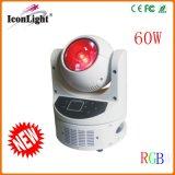 60W Osram LED RGBW 세척 무한한 이동하는 헤드