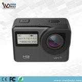 Câmera dobro Ultrathin da ação do controle 4k de WiFi 2.4G Romote da tela de HD