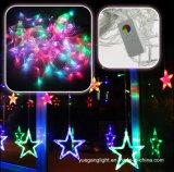 Lumière de vente chaude de rideau en qualité 2m138LEDs DEL avec la grande étoile 12