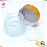 Envase poner crema cosmético de cristal helado/transparente de la venta al por mayor del precio de fábrica del tarro del crisol de la botella